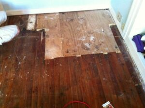 Before 100 yr. old  heart pine floors