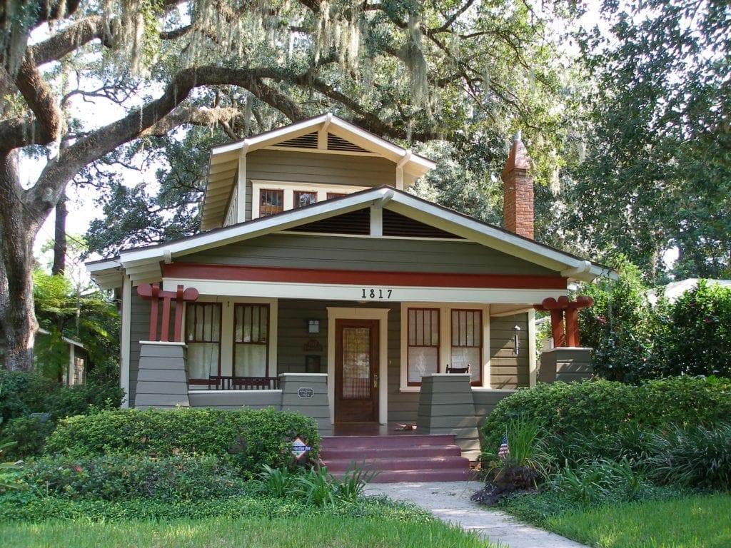 Orlando historic districts lake lawsona - Craftsman style homes exterior photos ...