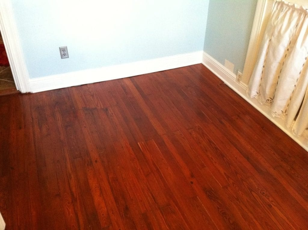 Repaired And Red Heart Pine Floors