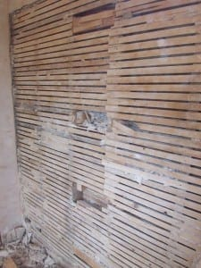 Plaster Wall Wood Lath