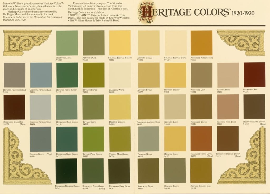 Choosing exterior paint colors for your historic house for Oriental colour palette