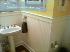 How-To-Wainscoting