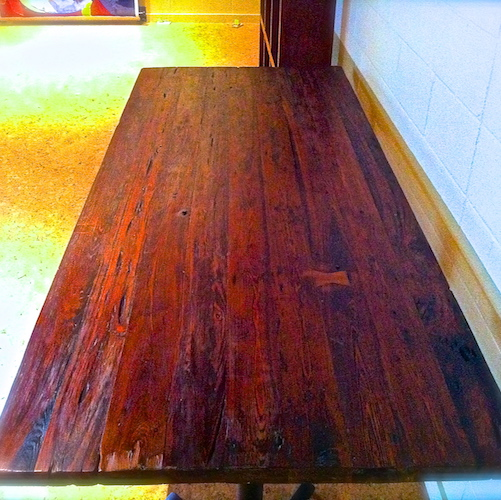 Reclaimed Wood Farm Table Project