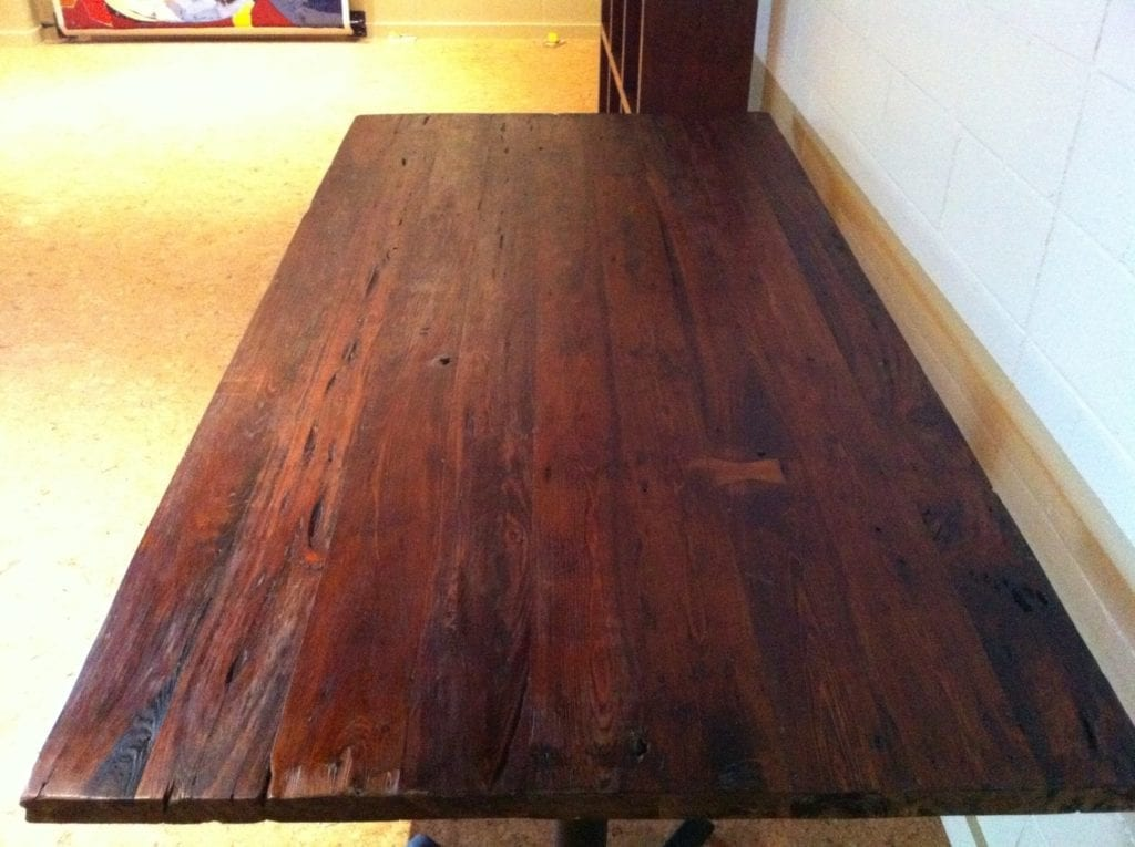 Finished Reclaimed wood farm table. How To  Revive Old Wood w  Boiled Linseed Oil   The Craftsman Blog