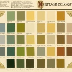 heritage historic paint colors