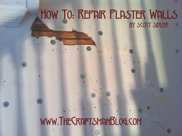 how to repair plaster walls. Black Bedroom Furniture Sets. Home Design Ideas