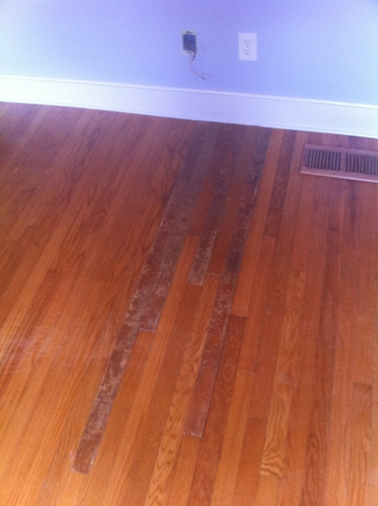 Can hardwood floors be refinished in sections thefloors co for Hardwood floor repair