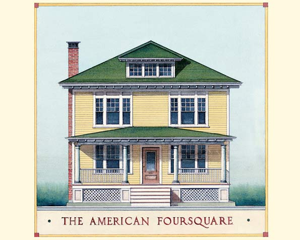 American foursquare style for American craftsman homes