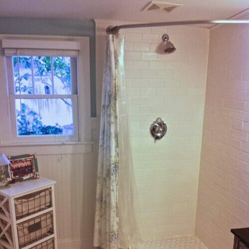 Make An Industrial Style Curtain Rod, Odd Shaped Shower Curtain Rods