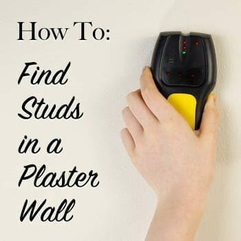 how to find studs in a plaster wall