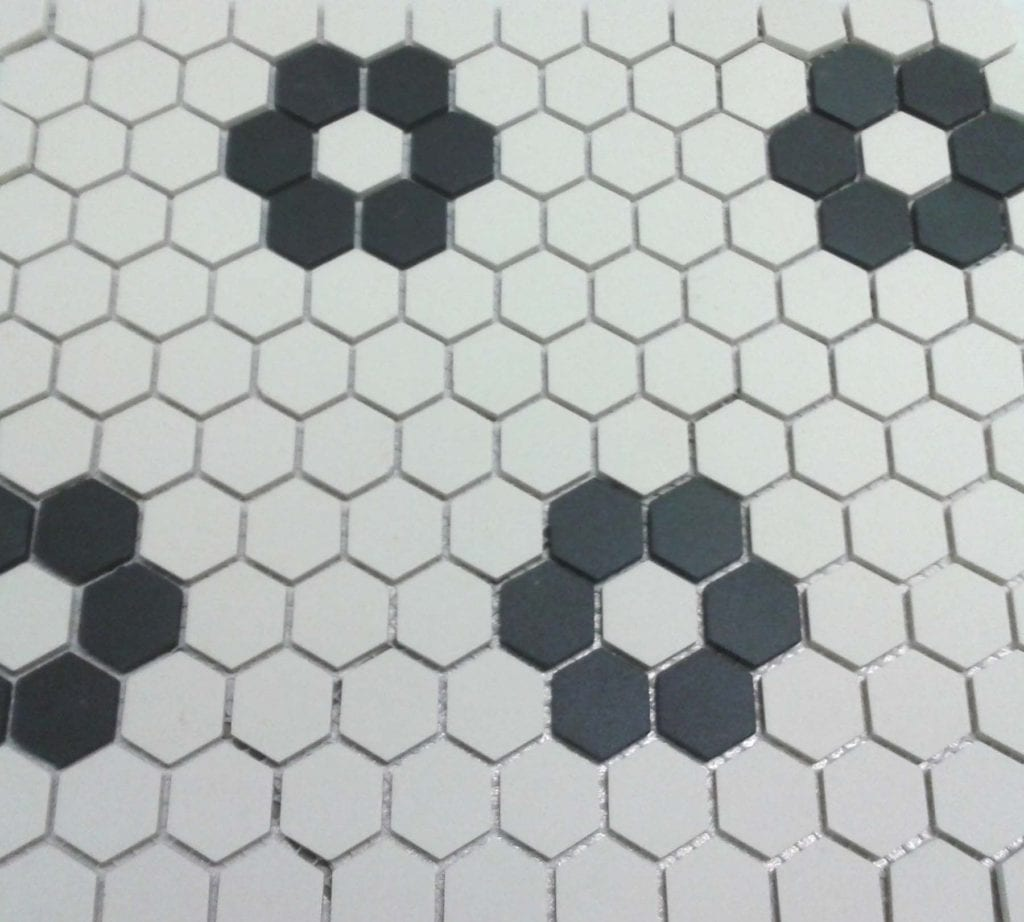 tile hexagon tiles concrete with white floor remodeling idafla on bathroom org