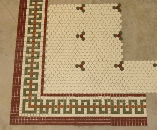 Tile border patterns for floors