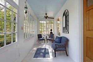 Blue Porch Ceiling. U201c