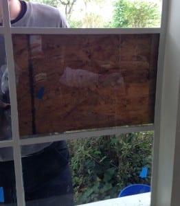 Steel window glass prep