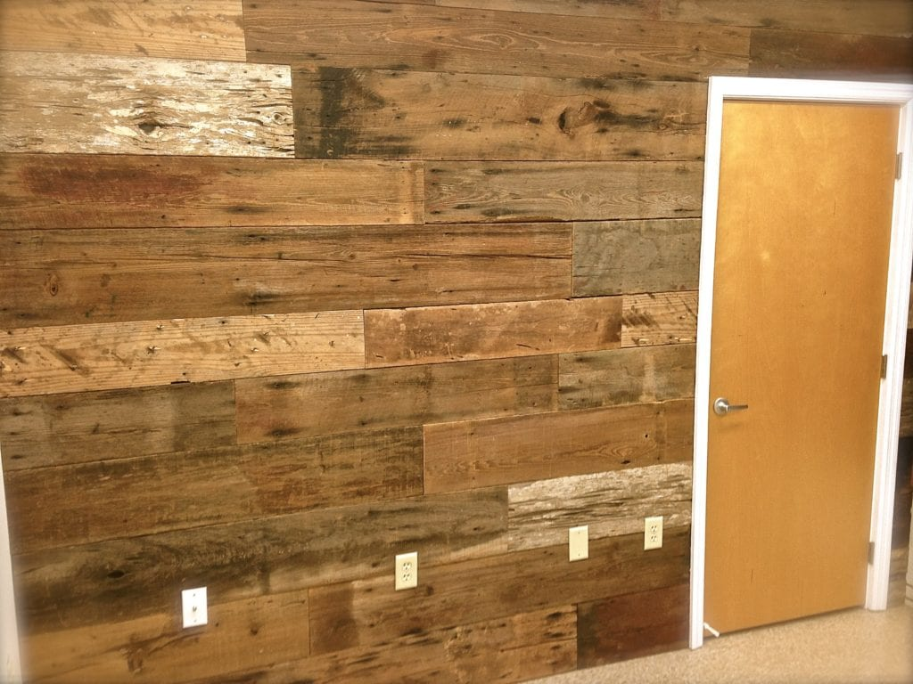 how to make a salvage wood wall