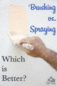 Brushing vs. Spraying Paint