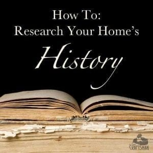 how to research your home's history