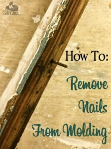 How to remove nails from molding
