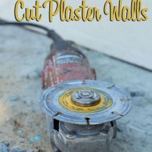 how to cut plaster walls
