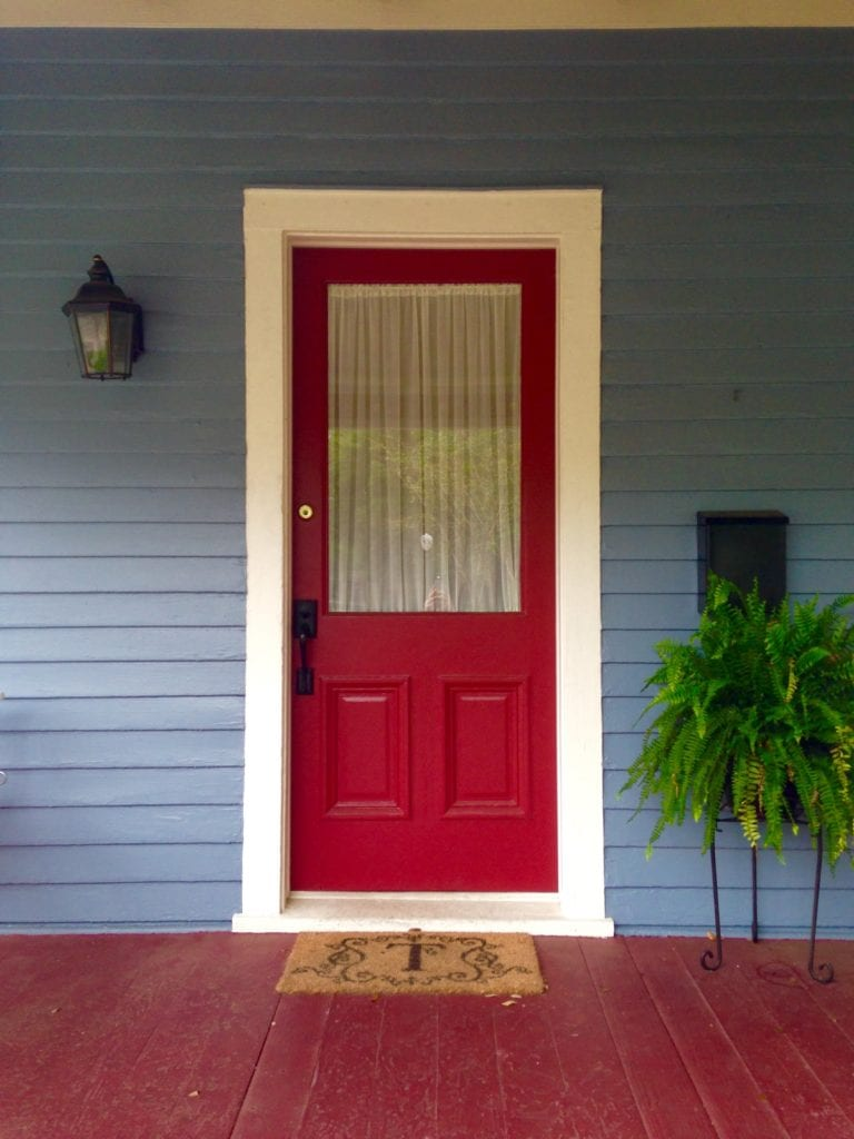 Red Door Blue Siding The Craftsman Blog