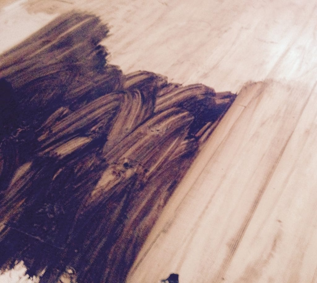 How to make distressed wood floors the craftsman blog for Faux wood flooring