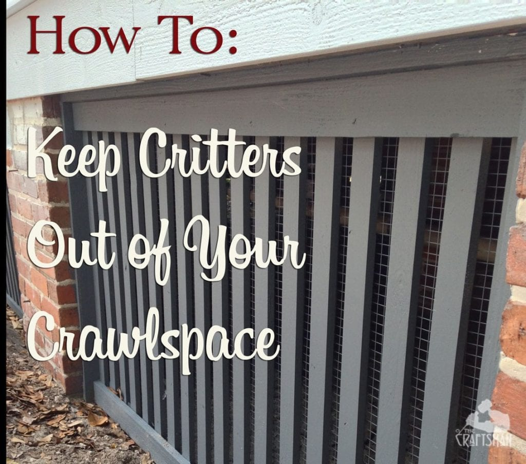 How To: Keep Critters Out of Your Crawlspace | The Craftsman ... Raccoon Proof Mobile Home Skirting on