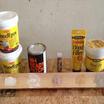 Wood filler test