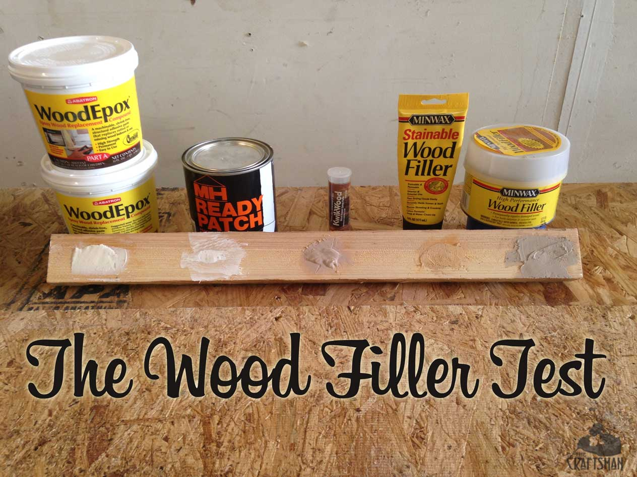the wood filler epoxy test year 1 the craftsman blog