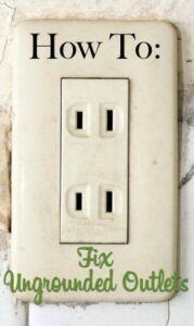 how to fix ungrounded outlets