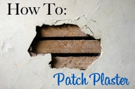 How to patch plaster