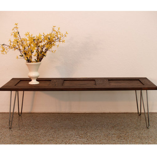 Turn an Old Door Into a Mid-Century Coffee Table