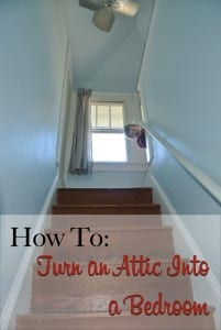 how to turn an attic into a bedroom