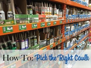 how to pick the right caulk