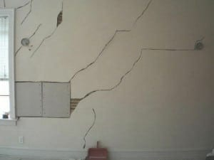 settlement cracks