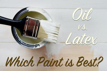 Oil to latex paint