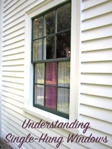 understanding single hung windows