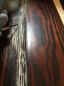 draw in wood grain