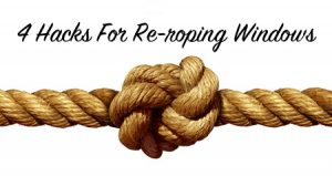 re-roping windows