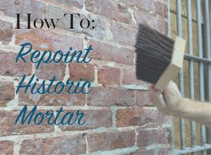how to repoint historic mortar