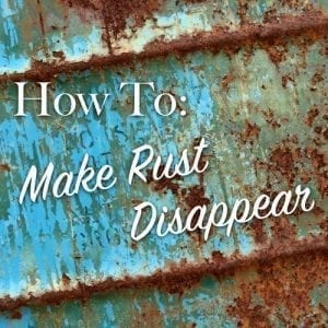 how to make rust disappear