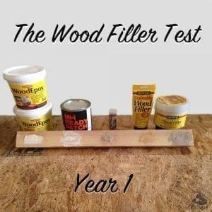 wood filler test year 1