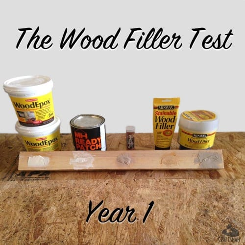 wood filler test year 1