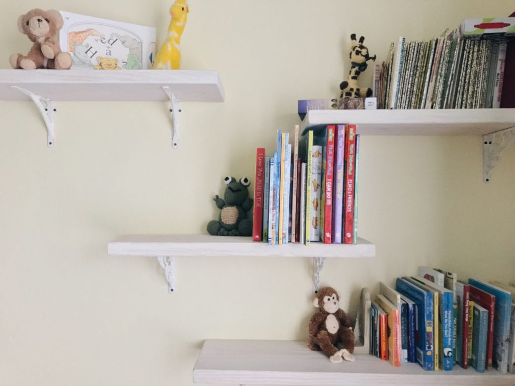 whitewash DIY shelving
