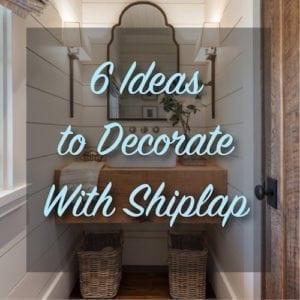 DIY shiplap bathroom
