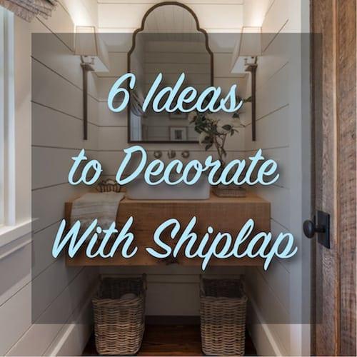 DIY shiplap bathroom & 6 Ideas to Decorate With Shiplap | The Craftsman Blog