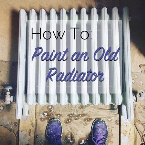 how to paint an old radiator