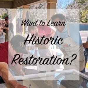 want to learn historic restoration?