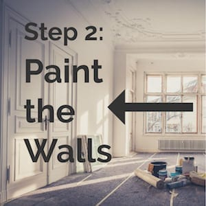 step 2 paint the walls