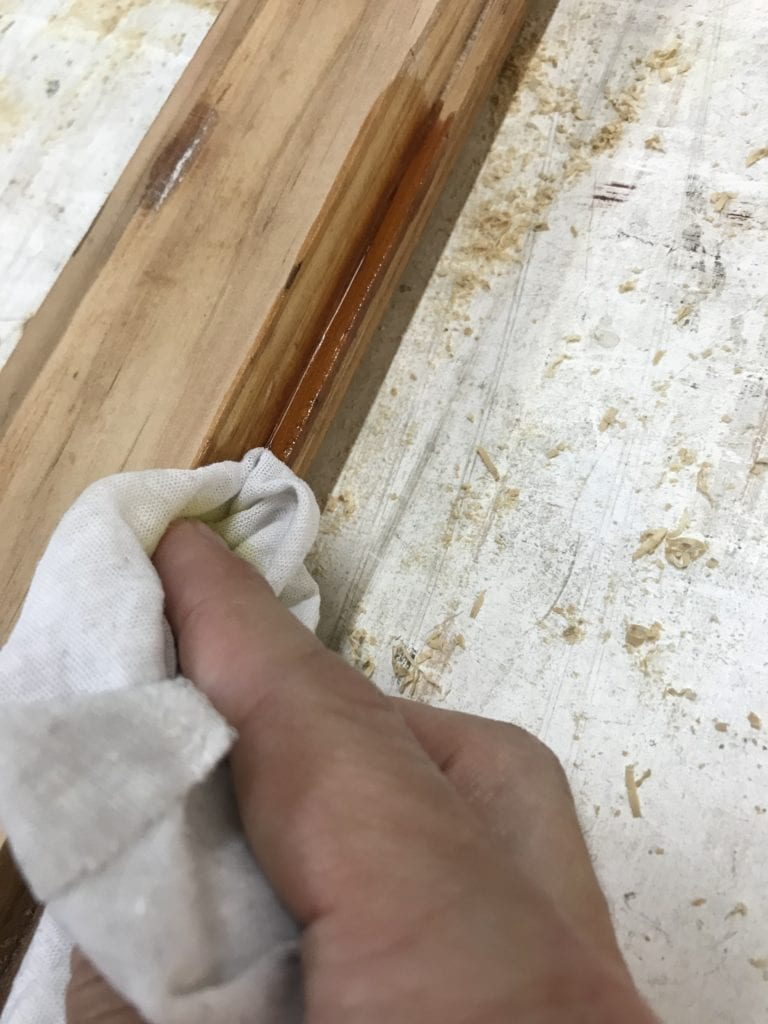 boiled linseed oil on sash