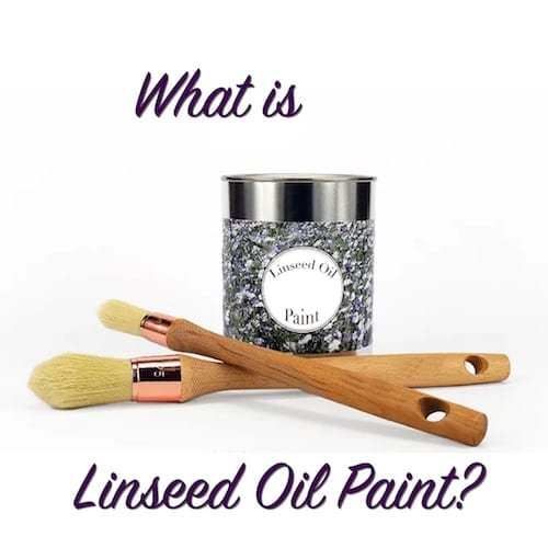 what is linseed oil paint
